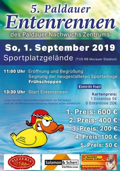 Plakat Entenrennen 2019